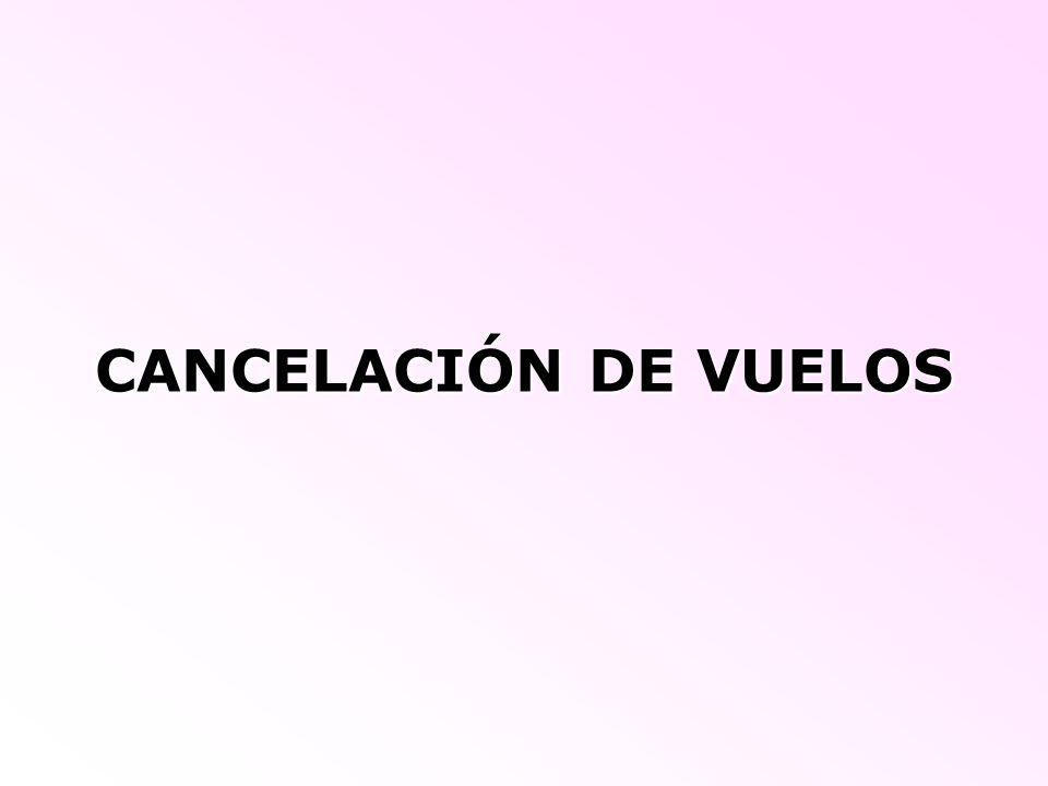 CANCELACIÓN DE VUELOS