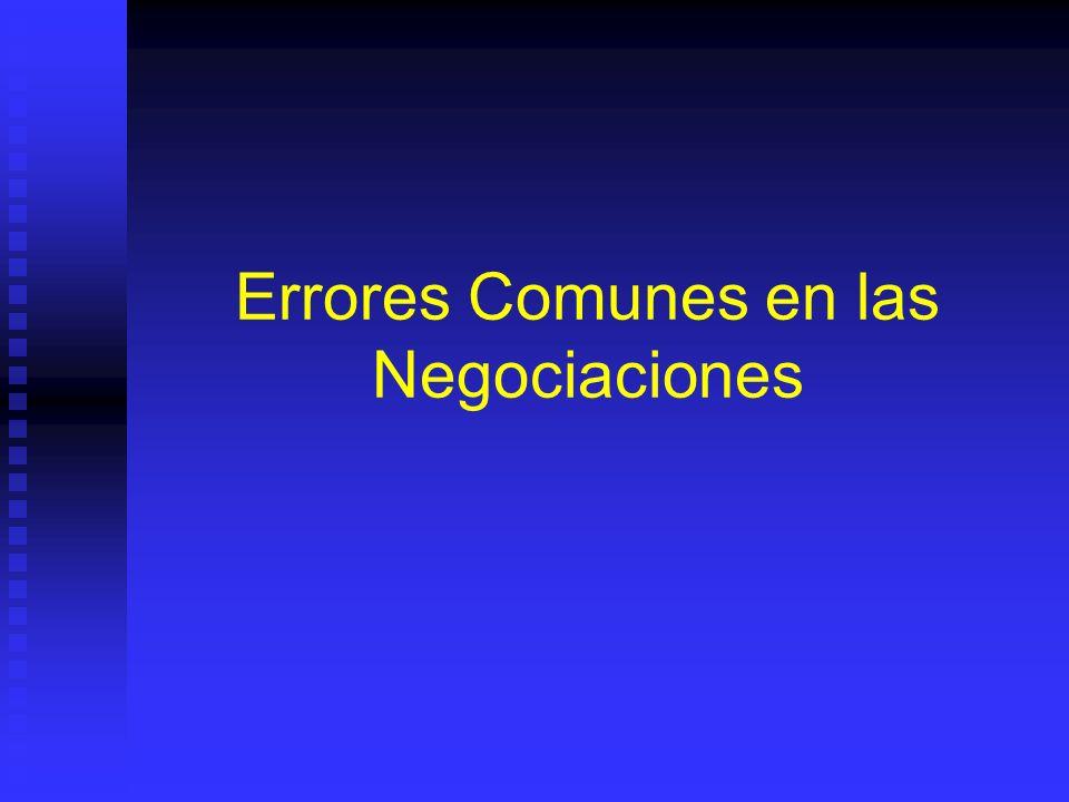 Errores Comunes en las Negociaciones