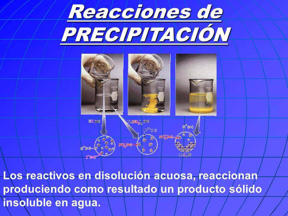 Reacciones ÁCIDO – BASE Los reactivos con propiedades totalmente opuestas, reaccionan dando una sal y agua.