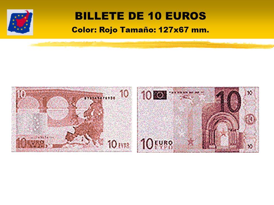 BILLETE DE 20 EUROS Color: Azul Tamaño: 133x72 mm.