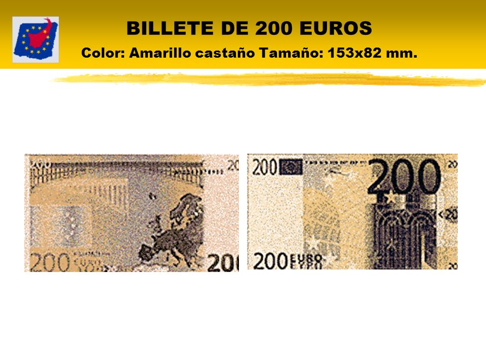 BILLETE DE 500 EUROS Color: Púrpura Tamaño: 160x82 mm.
