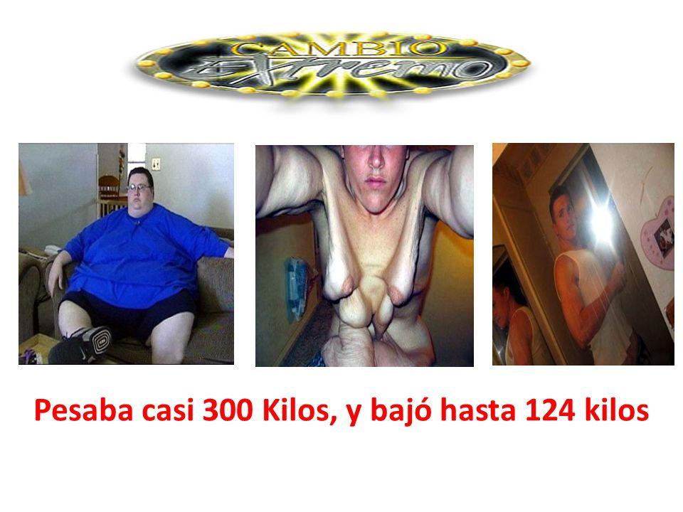 Pesaba casi 300 Kilos, y bajó hasta 124 kilos