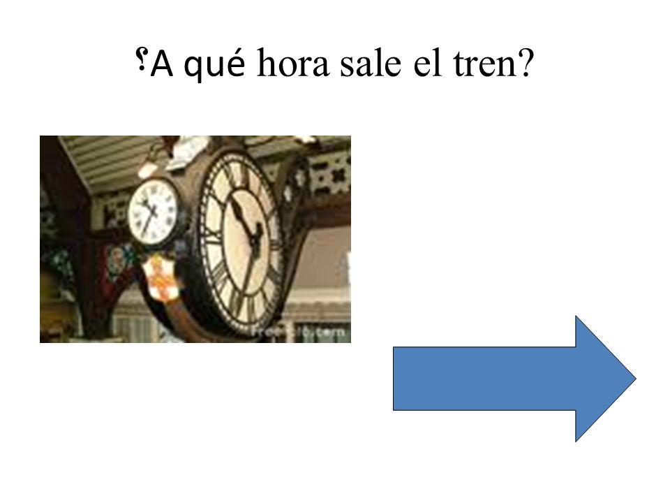 Hack /Hartsdown La estacion Buenas dias Senor Ask for a return ticket to Madrid Say 2 nd class Ask how much it costs.