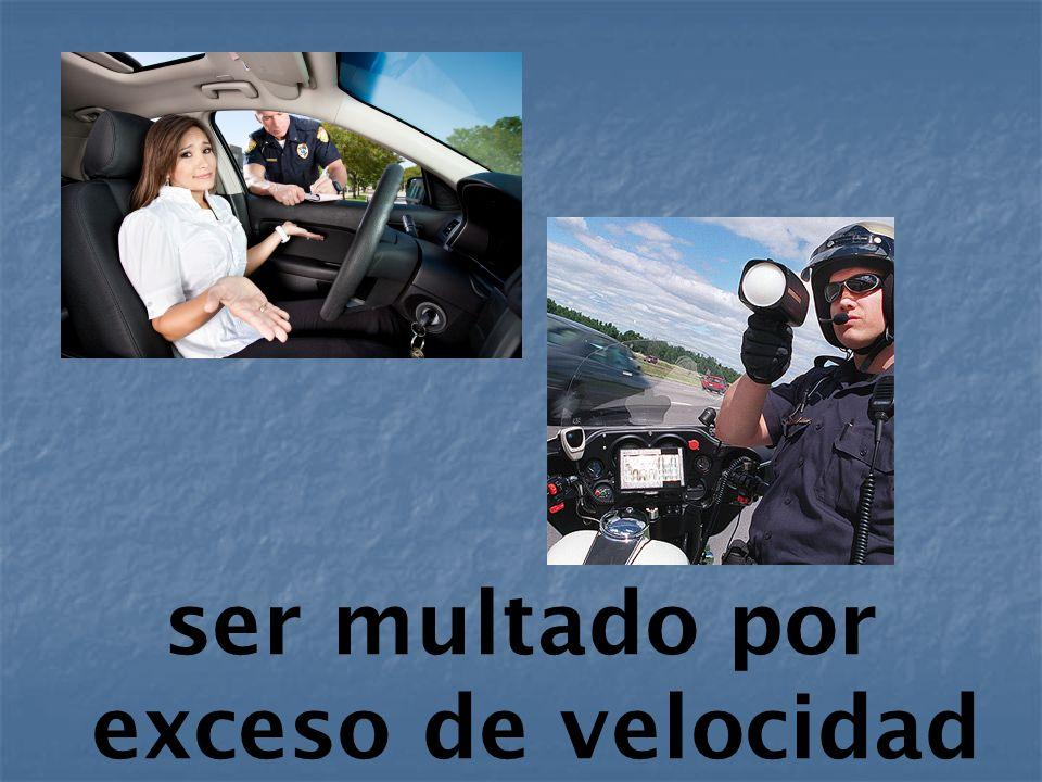 ser multado por exceso de velocidad