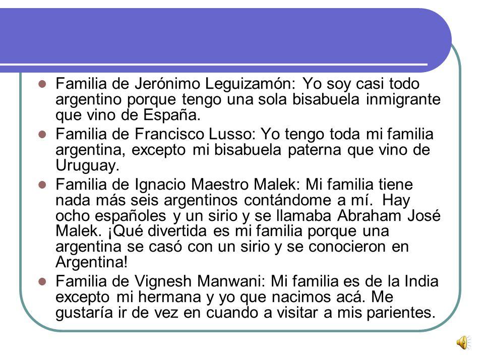 Familia de Gonzalo Criniti: Todos mis bisabuelos son extranjeros, mis abuelos son inmigrantes y sólo mis papás, mi hermano y yo somos argentinos. La r