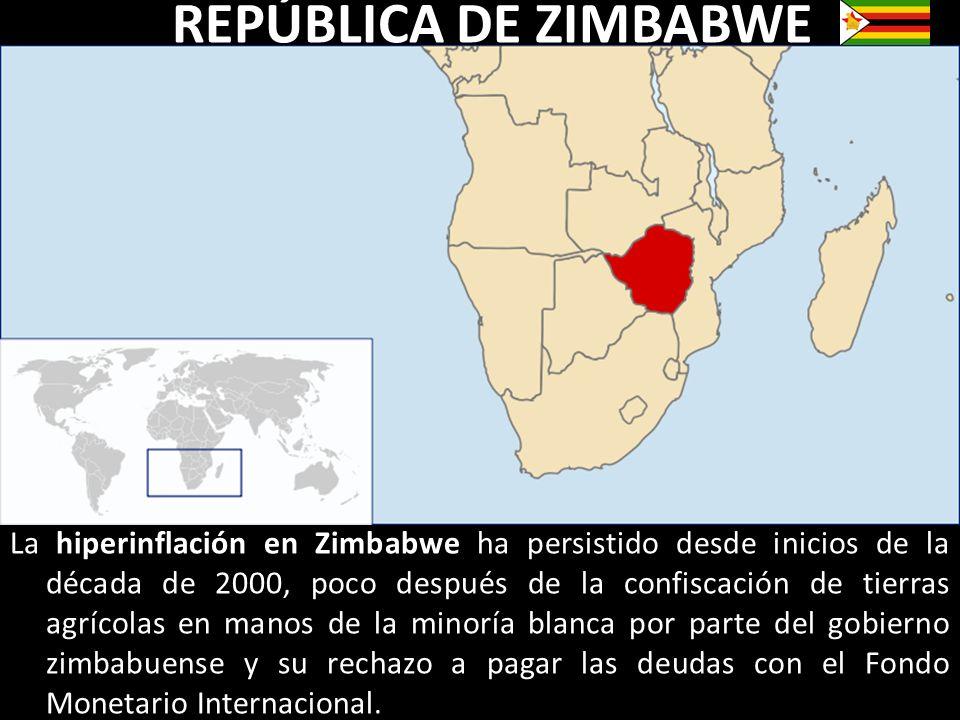 La hiperinflación en Zimbabwe ha persistido desde inicios de la década de 2000, poco después de la confiscación de tierras agrícolas en manos de la mi