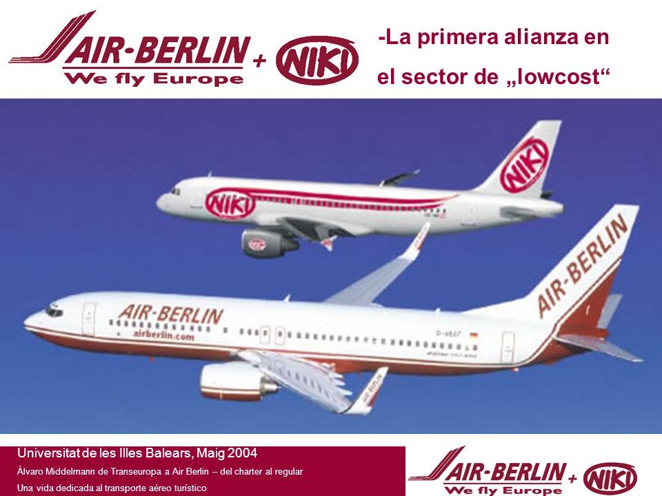 Universitat de les Illes Balears, Maig 2004 Álvaro Middelmann de Transeuropa a Air Berlin – del charter al regular Una vida dedicada al transporte aéreo turístico -La primera alianza en el sector de lowcost