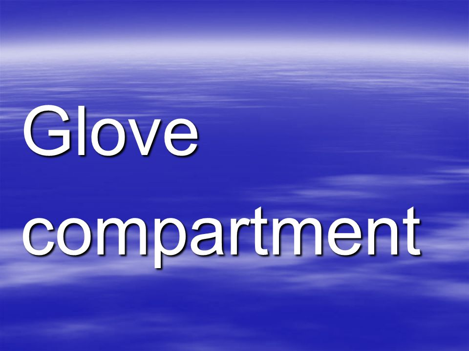 Glovecompartment