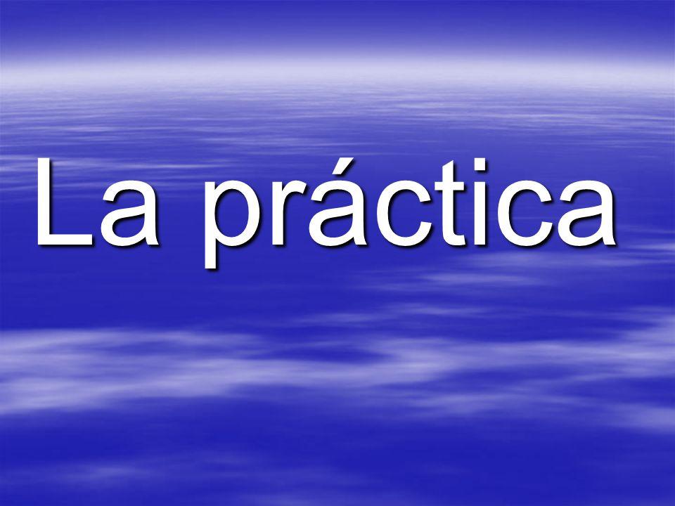 La práctica