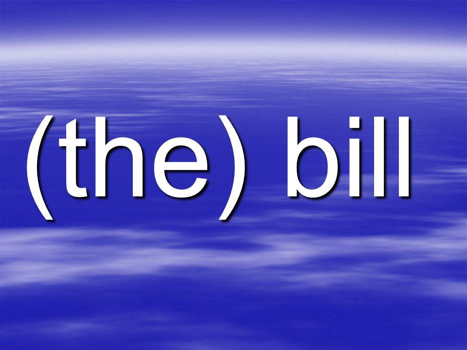 (the) bill