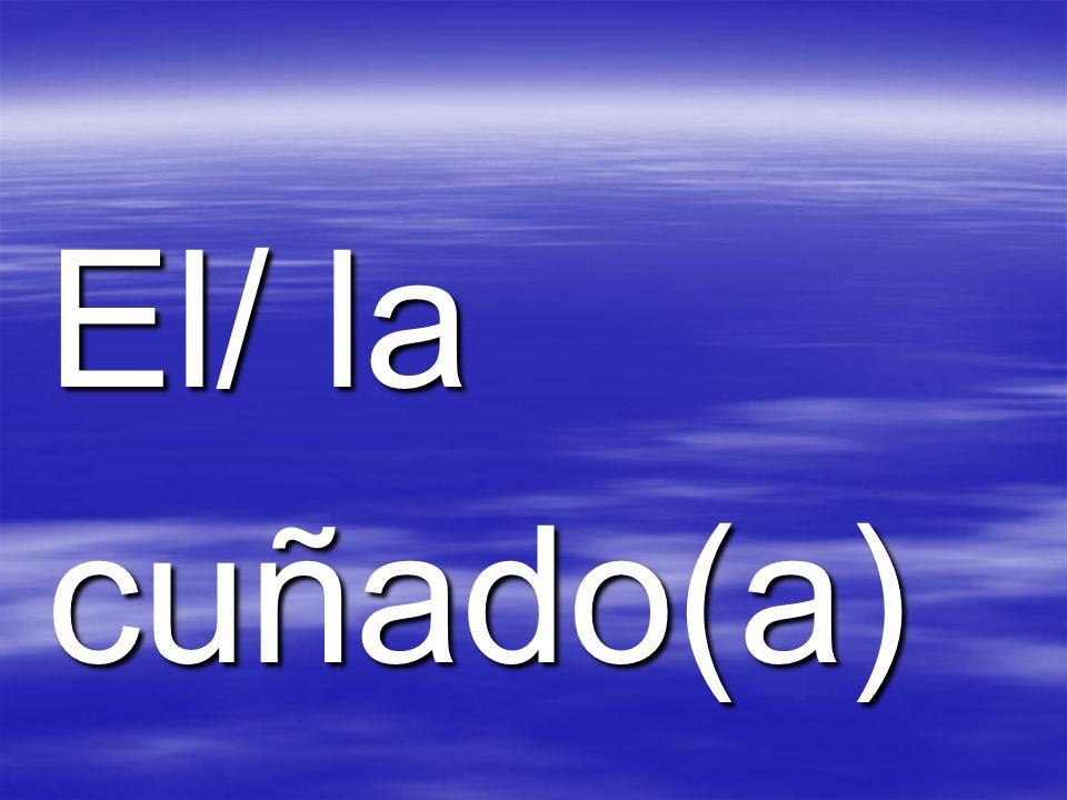 El/ la cuñado(a)