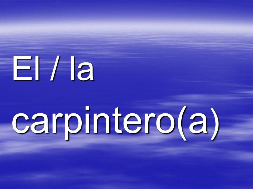 El / la carpintero(a )