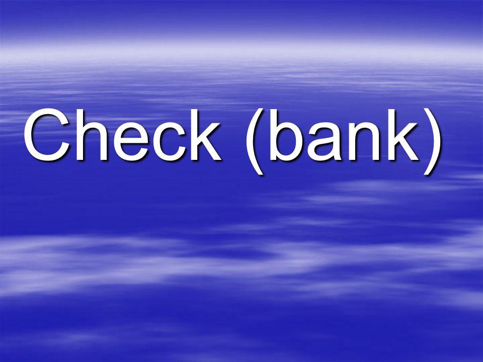 Check (bank)