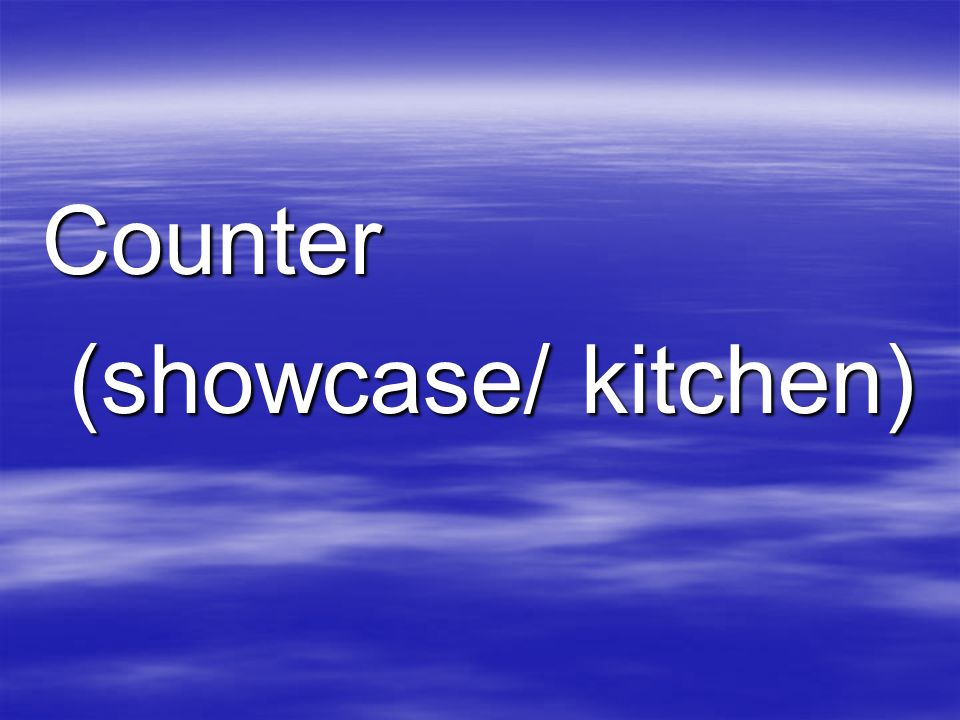 Counter (showcase/ kitchen) (showcase/ kitchen)
