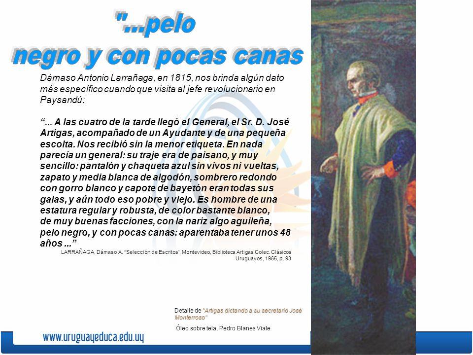 Dámaso Antonio Larrañaga, en 1815, nos brinda algún dato más específico cuando que visita al jefe revolucionario en Paysandú:... A las cuatro de la ta