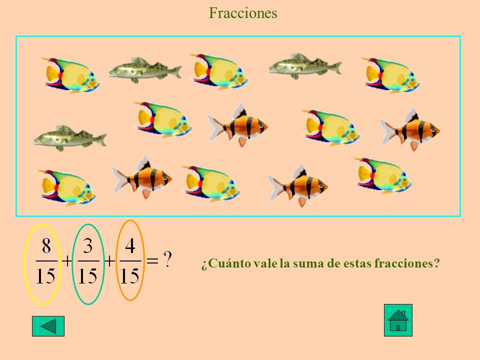 Fracciones ¿Cuánto vale la suma de estas fracciones?
