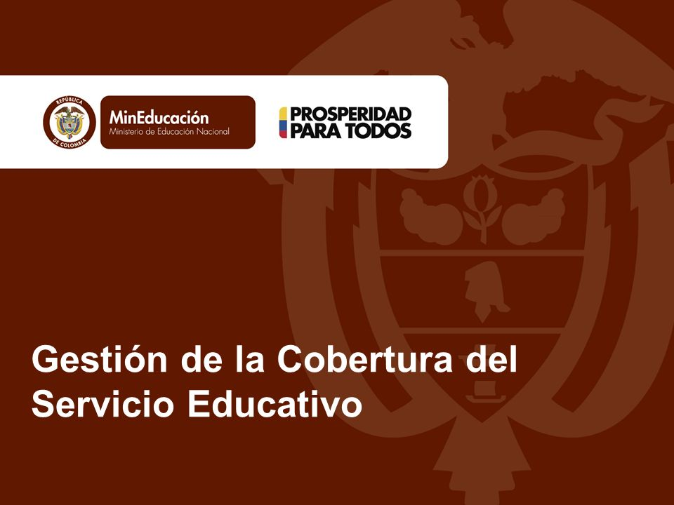 Gestión de la Cobertura del Servicio Educativo