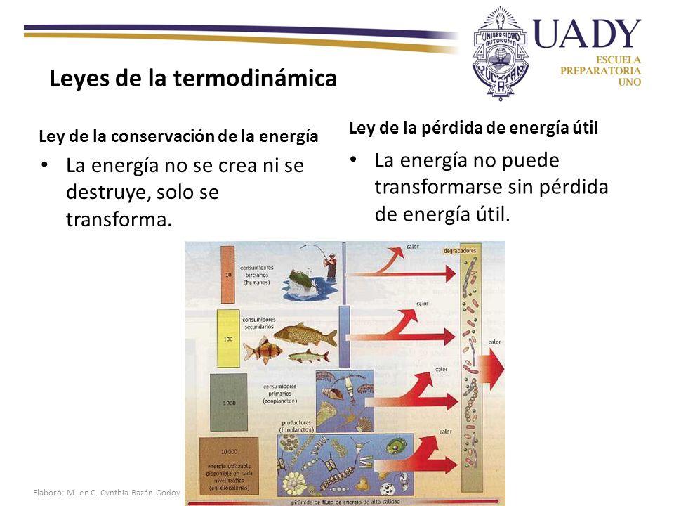 Ley de la conservación de la energía La energía no se crea ni se destruye, solo se transforma.