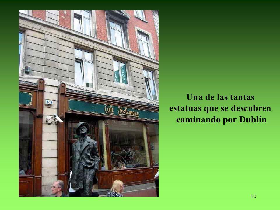 10 Una de las tantas estatuas que se descubren caminando por Dublín