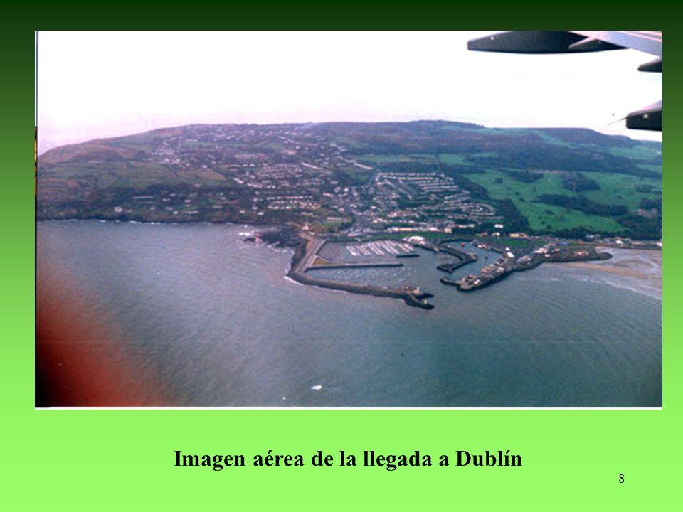 8 Imagen aérea de la llegada a Dublín