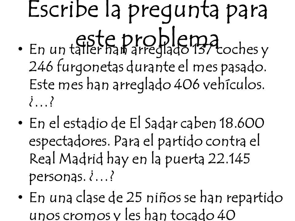 Inventa el enunciado del problema dadas las operaciones a)8 x 4 = 32 / 100 – 32 = 68 b) 100 : 4 = 25 / 25 – 13 = 12 c) 850 + 1.150 = 2.000 / 2.000 : 25 = 80