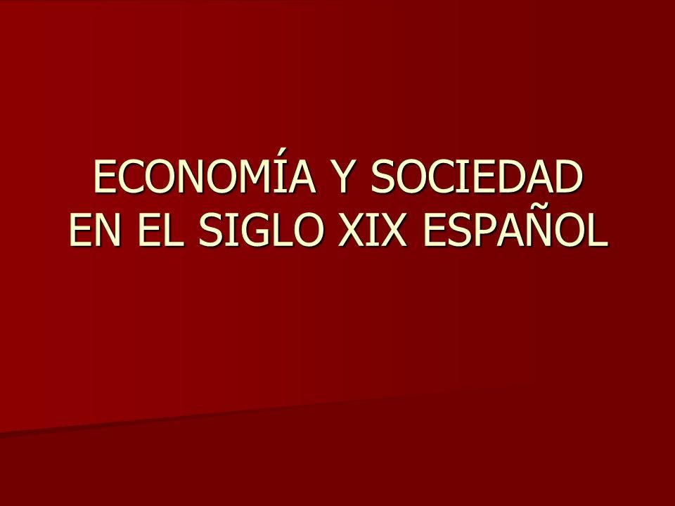 ECONOMÍA Y SOCIEDAD EN EL SIGLO XIX ESPAÑOL