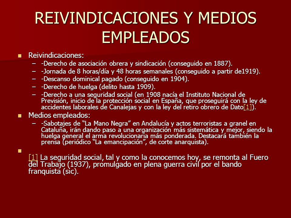 LOCALIZACIONES DEL MOVIMIENTO OBRERO ESPAÑOL El socialismo marxista tendrá fuerza en Vizcaya, Asturias y Madrid.