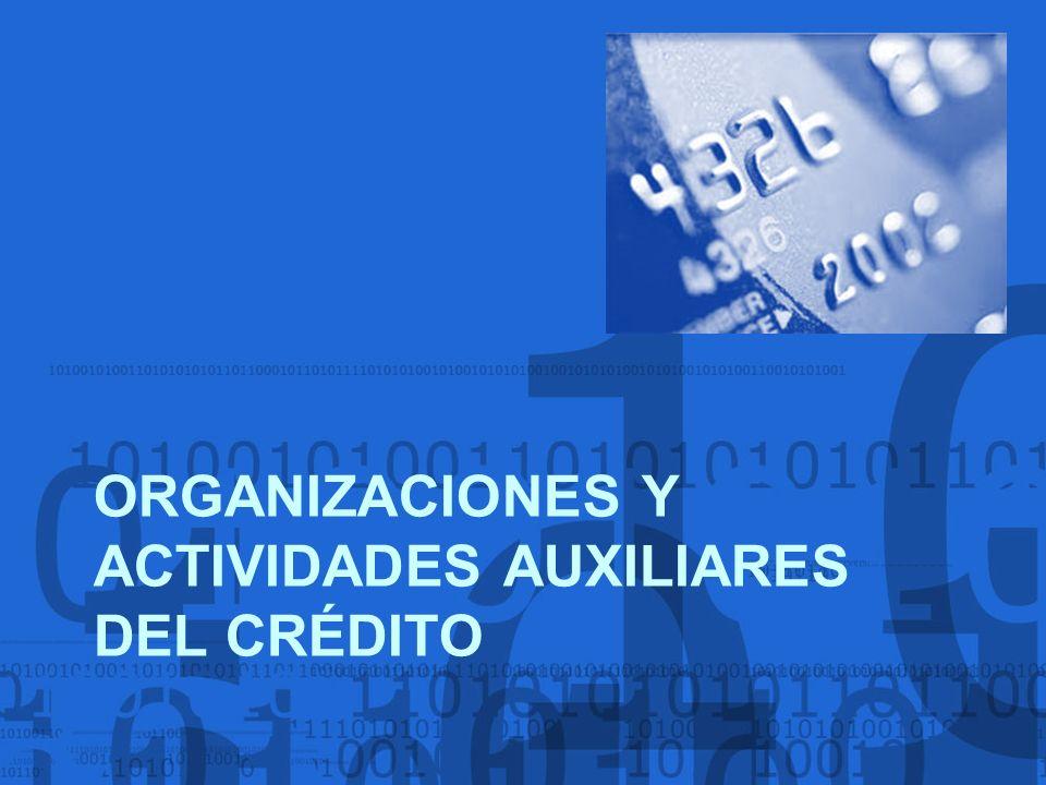 ORGANIZACIONES Y ACTIVIDADES AUXILIARES DEL CRÉDITO