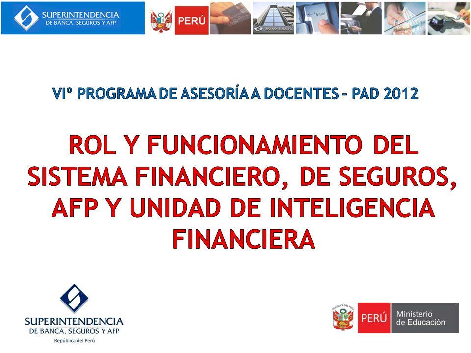 2.1El Banco Central de Reserva del Perú (BCRP) 2.2La Superintendencia de Banca, Seguros y Administradoras Privadas de Fondos de Pensiones (SBS) 2.3La Superintendencia del Mercado de Valores (SMV) II.