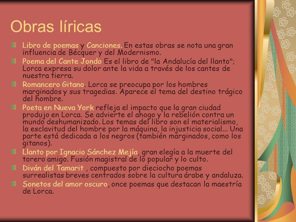 Libro de poemas y Canciones.