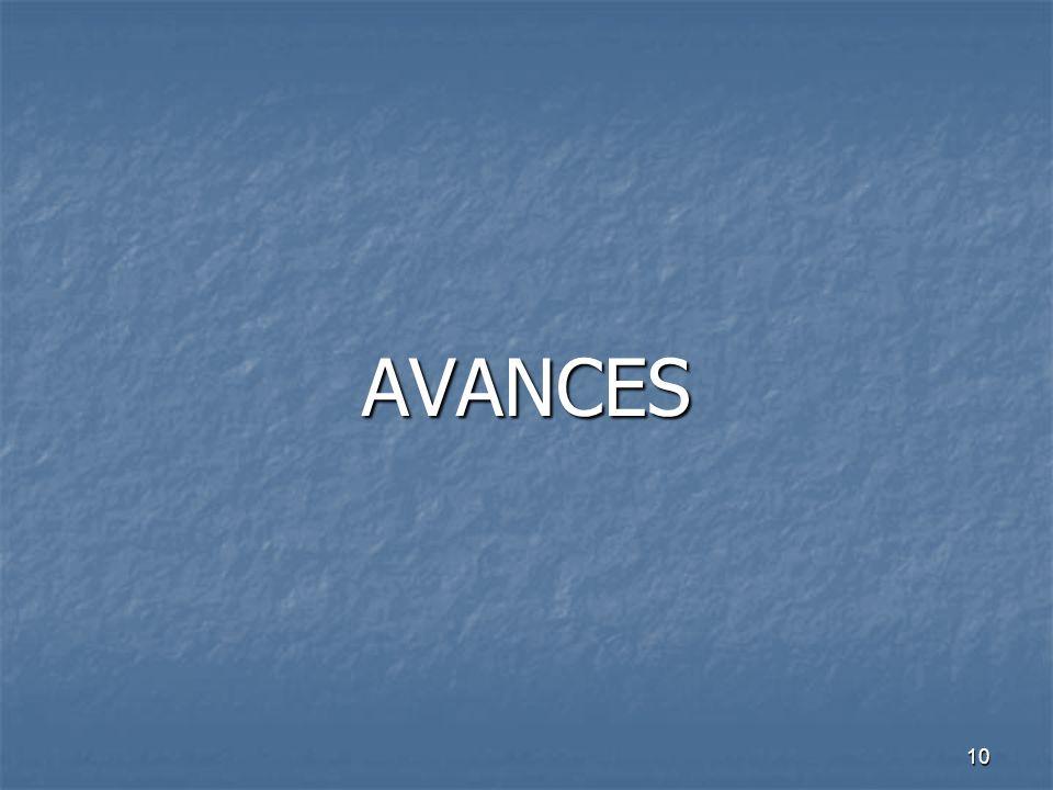 10 AVANCES