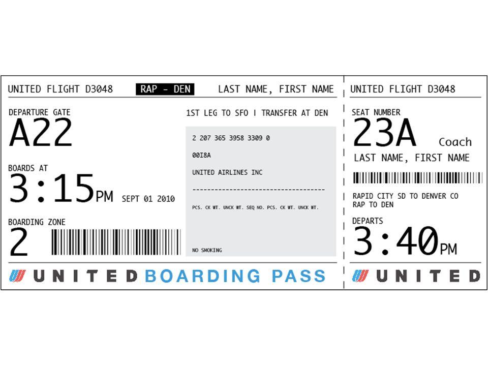 La tarjeta de embarque