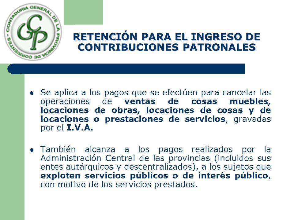 Cuando resultara un importe a retener inferior a VEINTE PESOS ($ 20.-), no corresponderá efectuar retención.