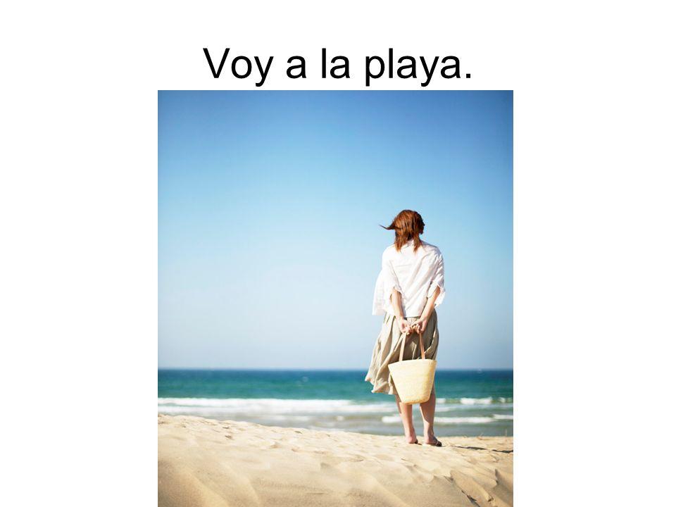 Voy a la playa.