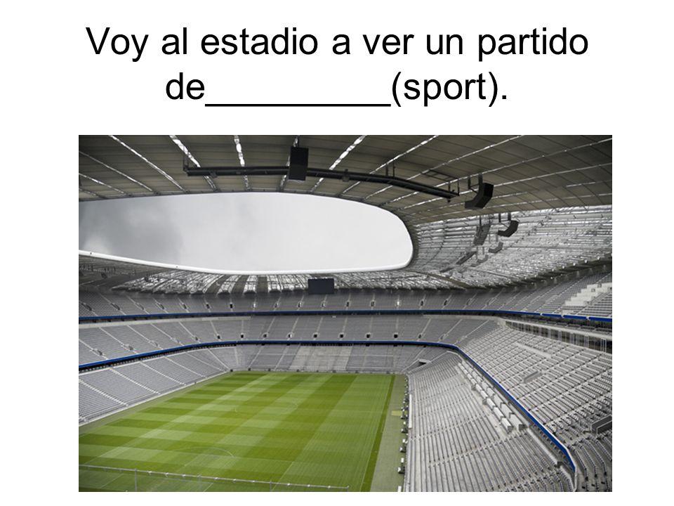 Voy al estadio a ver un partido de_________(sport).