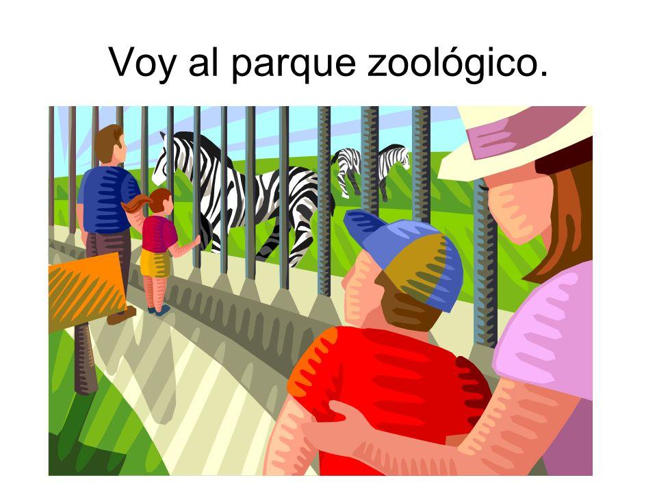 Voy al parque zoológico.