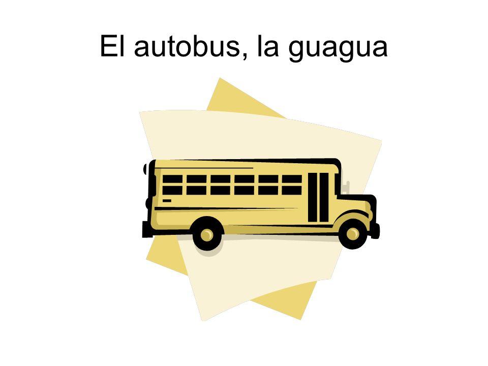El autobus, la guagua