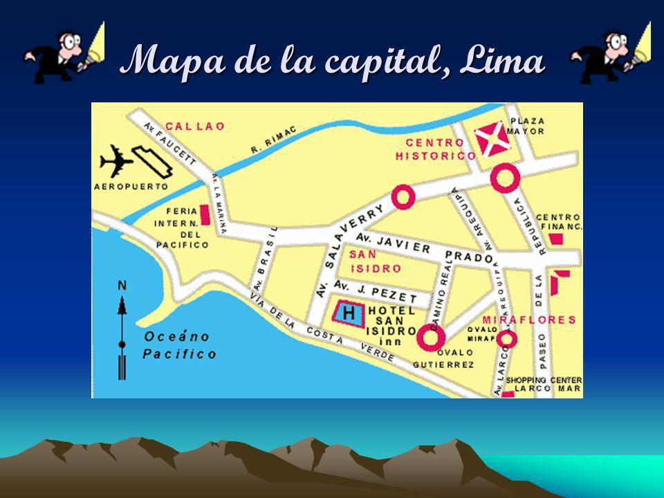 Mapa de la capital, Lima