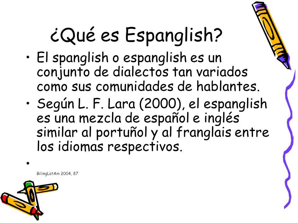 Nacimiento del espanglish Los primeros indicios del espanglish se remontan a fines del siglo XIX, inmediatamente después del Tratado de Guadalupe Hidalgo.