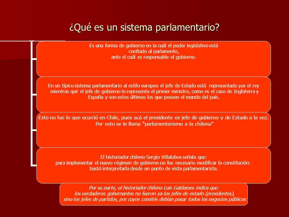 ¿Qué es un sistema parlamentario? Sistema Parlamentario Es una forma de gobierno en la cuál el poder legislativo está confiado al parlamento, ante el