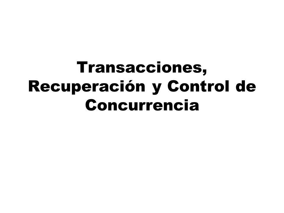 Transacciones, Recuperación y Control de Concurrencia