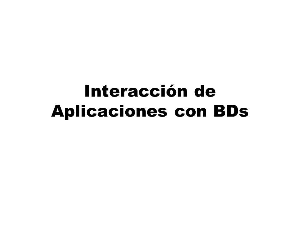 Interacción de Aplicaciones con BDs