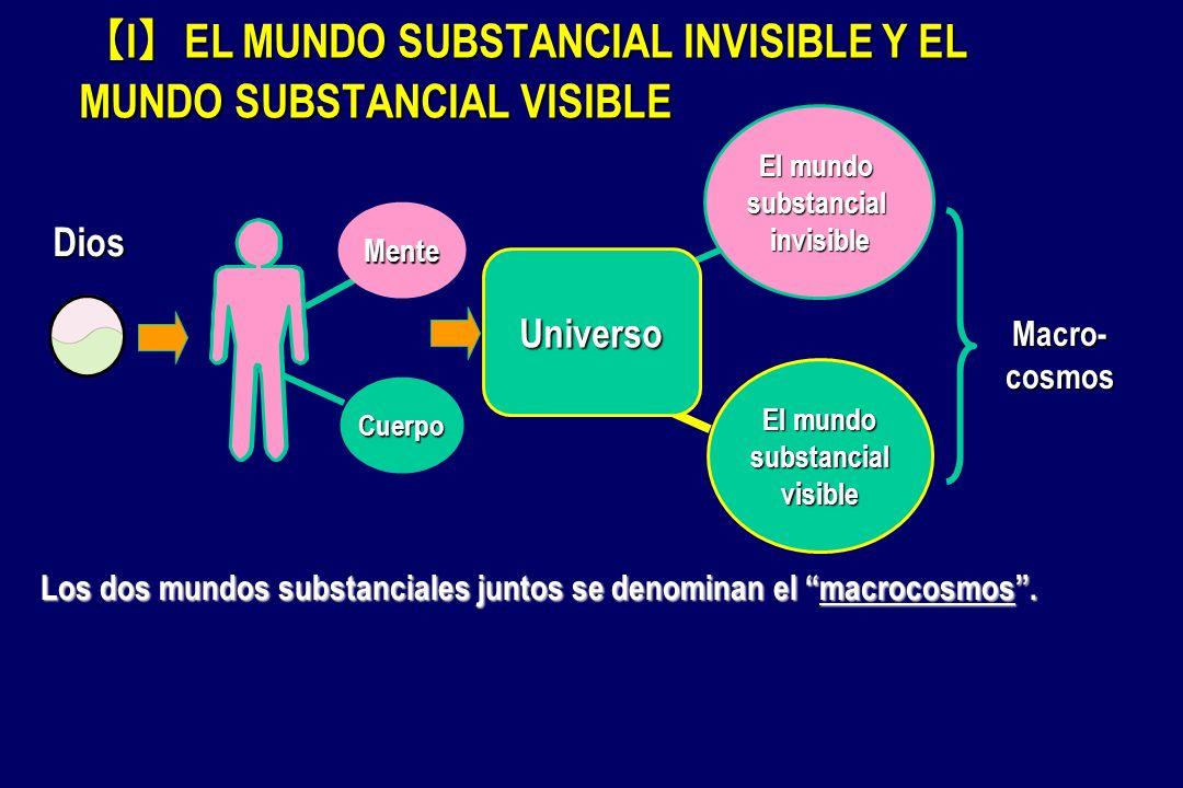 I EL MUNDO SUBSTANCIAL INVISIBLE Y EL MUNDO SUBSTANCIAL VISIBLE I EL MUNDO SUBSTANCIAL INVISIBLE Y EL MUNDO SUBSTANCIAL VISIBLE Cuerpo Mente Macro- co