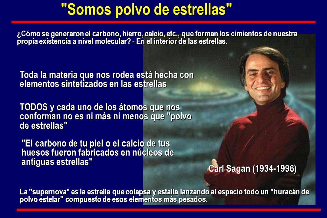 Carl Sagan (1934-1996) TODOS y cada uno de los átomos que nos conforman no es ni más ni menos que