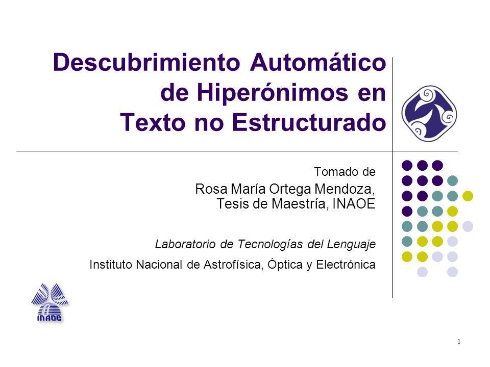 2 Introducción Relaciones semánticas: Sinonimia, antonimia, meronimia, hiperonimia, etc.