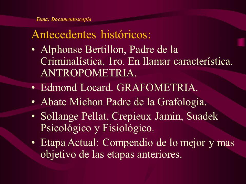 Antecedentes históricos: Alphonse Bertillon, Padre de la Criminalística, 1ro.