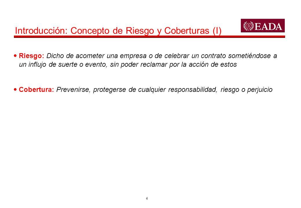 5 Introducción: Concepto de Riesgo y Coberturas (II) Chile Suiza Mundial de Sudáfrica, cuartos de final Honduras España ????.