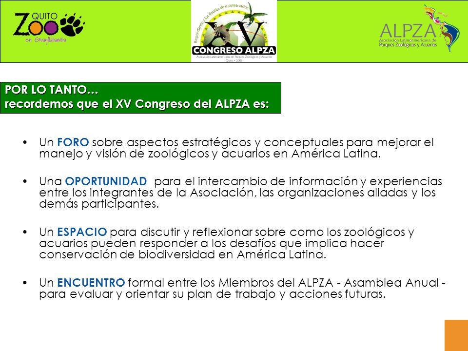 Un FORO sobre aspectos estratégicos y conceptuales para mejorar el manejo y visión de zoológicos y acuarios en América Latina.