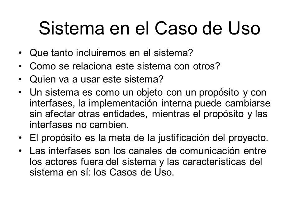 Sistema en el Caso de Uso Que tanto incluiremos en el sistema.