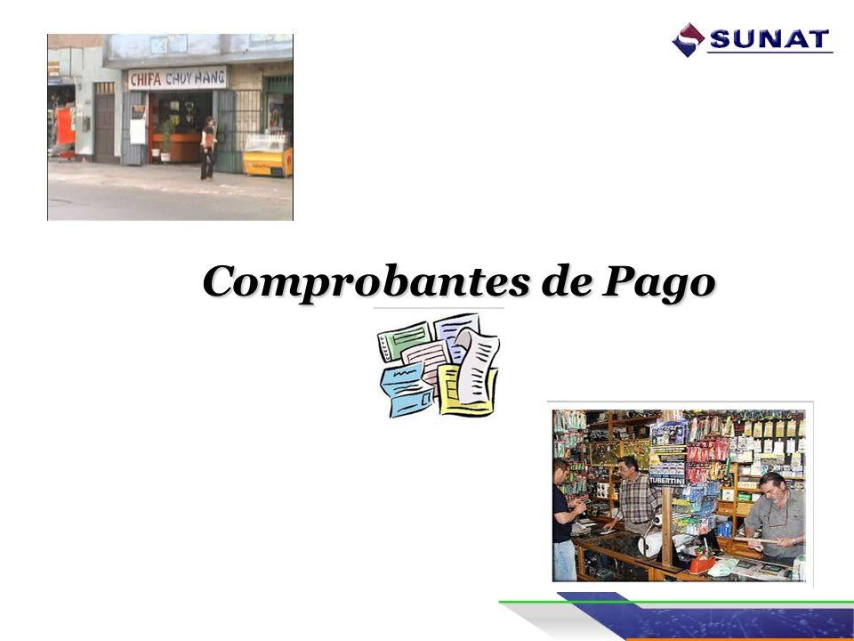 El COMPROBANTE DE PAGO Es un documento que acredita : -La transferencia de bienes, -La entrega en uso, o -La prestación de servicios.
